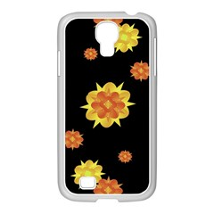 Floral Print Modern Style Pattern  Samsung Galaxy S4 I9500/ I9505 Case (white) by dflcprints