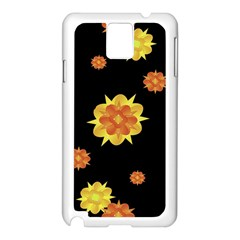 Floral Print Modern Style Pattern  Samsung Galaxy Note 3 N9005 Case (white) by dflcprints