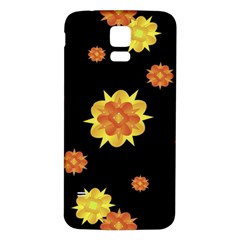 Floral Print Modern Style Pattern  Samsung Galaxy S5 Back Case (white) by dflcprints