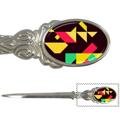 Shapes In Retro Colors 2 Letter Opener by LalyLauraFLM
