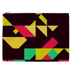 Shapes In Retro Colors 2 Cosmetic Bag (xxl) by LalyLauraFLM