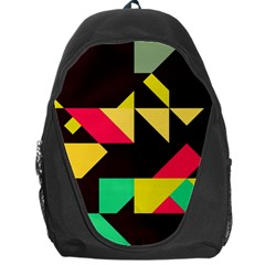 Shapes In Retro Colors 2 Backpack Bag by LalyLauraFLM