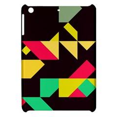 Shapes In Retro Colors 2 Apple Ipad Mini Hardshell Case by LalyLauraFLM
