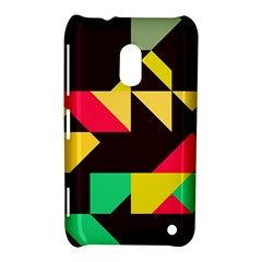 Shapes In Retro Colors 2 Nokia Lumia 620 Hardshell Case by LalyLauraFLM