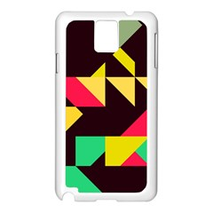 Shapes In Retro Colors 2 Samsung Galaxy Note 3 N9005 Case (white) by LalyLauraFLM