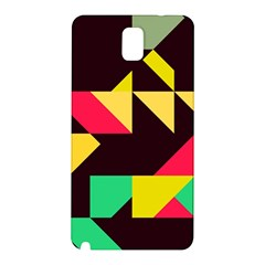Shapes In Retro Colors 2 Samsung Galaxy Note 3 N9005 Hardshell Back Case by LalyLauraFLM