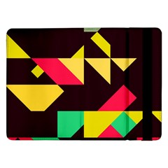 Shapes In Retro Colors 2 Samsung Galaxy Tab Pro 12 2  Flip Case by LalyLauraFLM