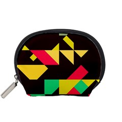 Shapes In Retro Colors 2 Accessory Pouch (small) by LalyLauraFLM