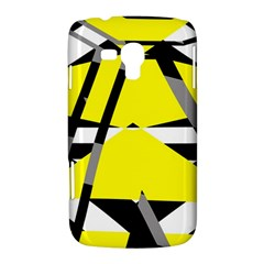 Yellow, black and white pieces abstract design Samsung Galaxy Duos I8262 Hardshell Case  by LalyLauraFLM