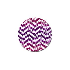 Purple Waves Pattern Golf Ball Marker (10 Pack) by LalyLauraFLM