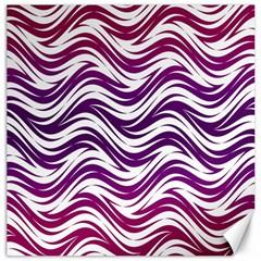 Purple Waves Pattern Canvas 20  X 20  by LalyLauraFLM