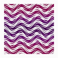 Purple Waves Pattern Glasses Cloth (medium, Two Sides) by LalyLauraFLM