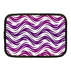 Purple Waves Pattern Netbook Case (medium) by LalyLauraFLM