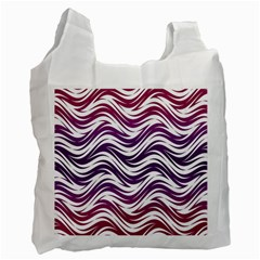 Purple Waves Pattern Recycle Bag (one Side) by LalyLauraFLM