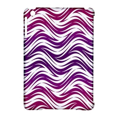 Purple Waves Pattern Apple Ipad Mini Hardshell Case (compatible With Smart Cover) by LalyLauraFLM