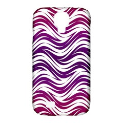 Purple Waves Pattern Samsung Galaxy S4 Classic Hardshell Case (pc+silicone) by LalyLauraFLM