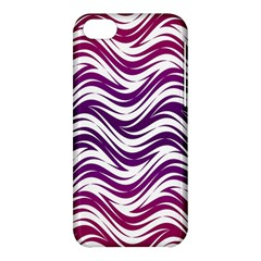 Purple Waves Pattern Apple Iphone 5c Hardshell Case by LalyLauraFLM