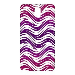 Purple Waves Pattern Samsung Galaxy Note 3 N9005 Hardshell Back Case by LalyLauraFLM