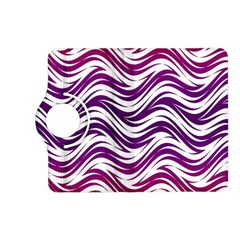 Purple waves pattern Kindle Fire HD (2013) Flip 360 Case by LalyLauraFLM