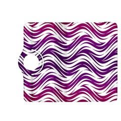 Purple Waves Pattern Kindle Fire Hdx 8 9  Flip 360 Case