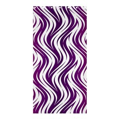 Purple Waves Pattern Shower Curtain 36  X 72  (stall) by LalyLauraFLM