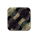 Geometric Abstract Grunge Prints in Cold Tones Drink Coaster (Square) Front