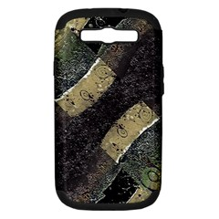 Geometric Abstract Grunge Prints In Cold Tones Samsung Galaxy S Iii Hardshell Case (pc+silicone)
