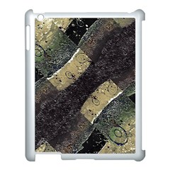 Geometric Abstract Grunge Prints In Cold Tones Apple Ipad 3/4 Case (white) by dflcprints