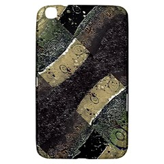 Geometric Abstract Grunge Prints In Cold Tones Samsung Galaxy Tab 3 (8 ) T3100 Hardshell Case