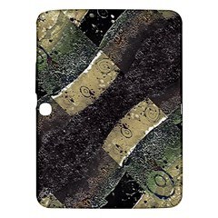 Geometric Abstract Grunge Prints In Cold Tones Samsung Galaxy Tab 3 (10 1 ) P5200 Hardshell Case