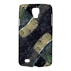 Geometric Abstract Grunge Prints In Cold Tones Samsung Galaxy S4 Active (i9295) Hardshell Case