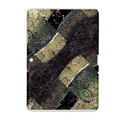 Geometric Abstract Grunge Prints In Cold Tones Samsung Galaxy Tab 2 (10 1 ) P5100 Hardshell Case
