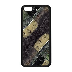 Geometric Abstract Grunge Prints In Cold Tones Apple Iphone 5c Seamless Case (black) by dflcprints