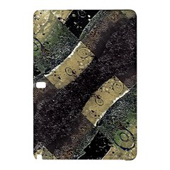 Geometric Abstract Grunge Prints In Cold Tones Samsung Galaxy Tab Pro 12 2 Hardshell Case