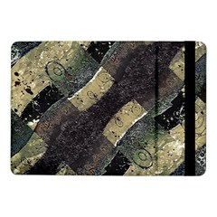 Geometric Abstract Grunge Prints In Cold Tones Samsung Galaxy Tab Pro 10 1  Flip Case by dflcprints