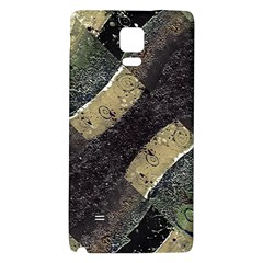 Geometric Abstract Grunge Prints In Cold Tones Samsung Note 4 Hardshell Back Case