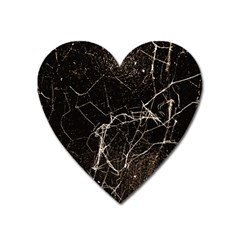Spider Web Print Grunge Dark Texture Magnet (heart) by dflcprints