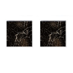 Spider Web Print Grunge Dark Texture Cufflinks (square) by dflcprints