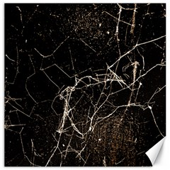 Spider Web Print Grunge Dark Texture Canvas 12  X 12  (unframed) by dflcprints