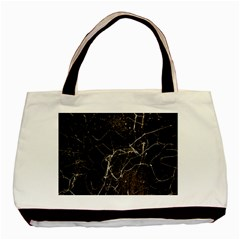 Spider Web Print Grunge Dark Texture Twin Sided Black Tote Bag by dflcprints