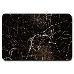 Spider Web Print Grunge Dark Texture Large Door Mat by dflcprints
