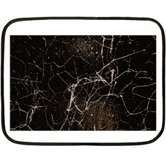 Spider Web Print Grunge Dark Texture Mini Fleece Blanket (two Sided) by dflcprints