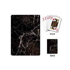 Spider Web Print Grunge Dark Texture Playing Cards (mini) by dflcprints