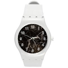 Spider Web Print Grunge Dark Texture Plastic Sport Watch (medium) by dflcprints