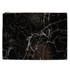 Spider Web Print Grunge Dark Texture Cosmetic Bag (xxl) by dflcprints