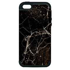 Spider Web Print Grunge Dark Texture Apple Iphone 5 Hardshell Case (pc+silicone) by dflcprints