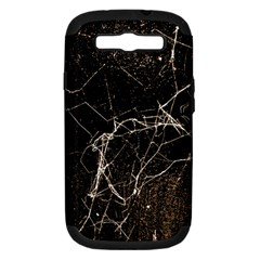 Spider Web Print Grunge Dark Texture Samsung Galaxy S Iii Hardshell Case (pc+silicone) by dflcprints