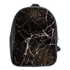 Spider Web Print Grunge Dark Texture School Bag (xl) by dflcprints