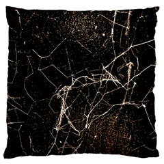 Spider Web Print Grunge Dark Texture Large Flano Cushion Case (one Side) by dflcprints