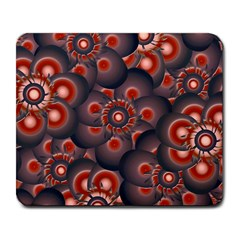 Modern Floral Decorative Pattern Print Large Mouse Pad (rectangle) by dflcprints